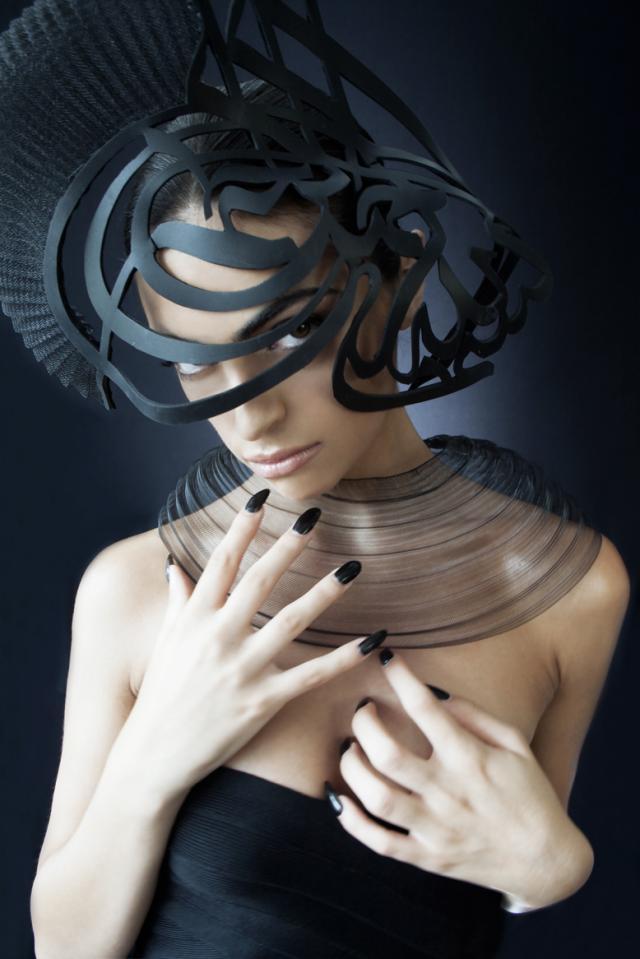 Hat_millinery_studio_aniss_laser_cut_leather_modern_edgy_avant_garde_Australia